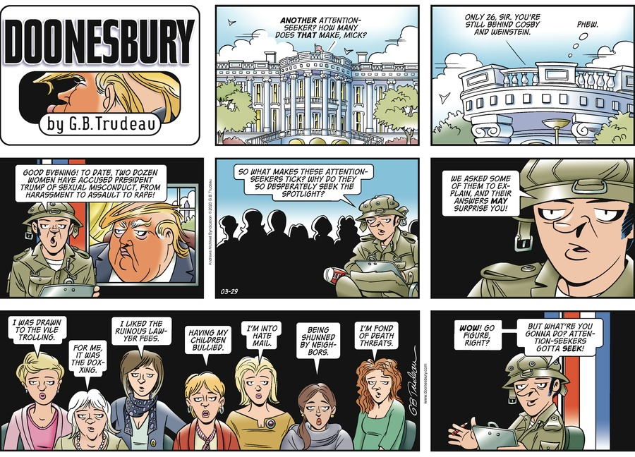 Doonesbury Comic Strip for March 29, 2020