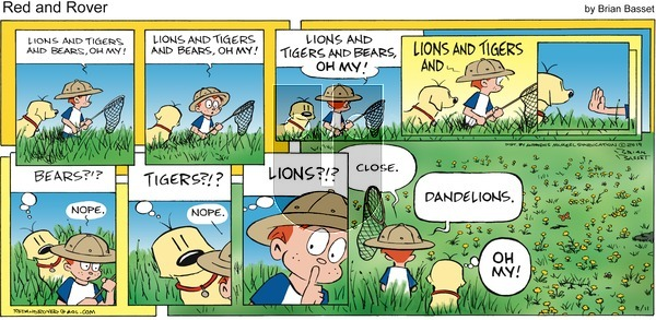 Red and Rover on Sunday August 11, 2019 Comic Strip