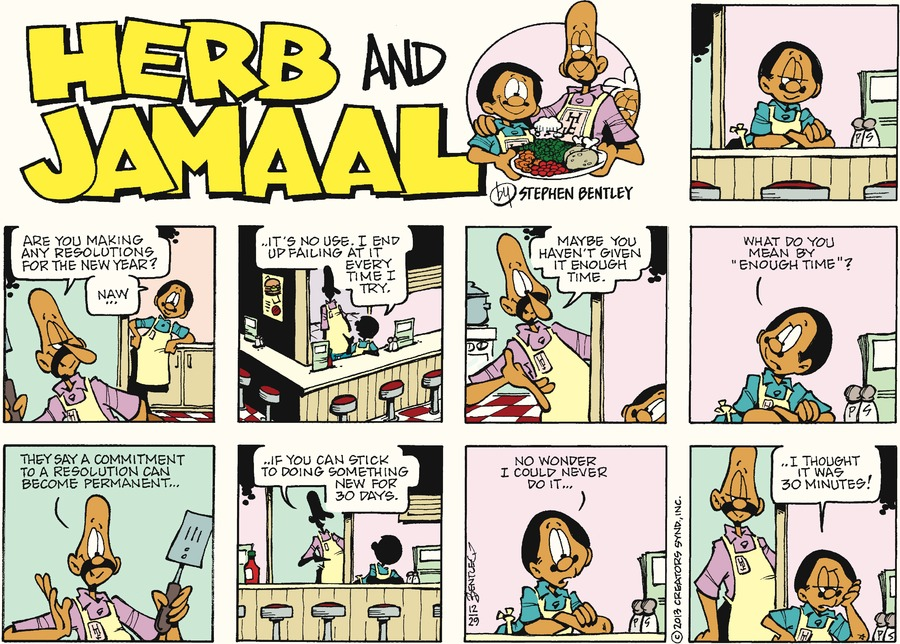 Herb and Jamaal for Dec 29, 2013 Comic Strip