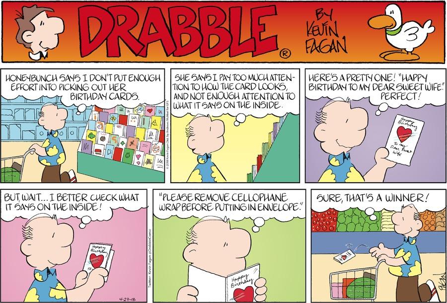 Drabble for Apr 29, 2018 Comic Strip