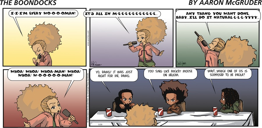 The Boondocks Comic Strip for August 09, 2020