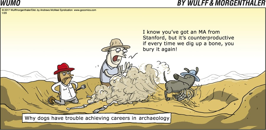 Why dogs have trouble achieving careers in archaeology