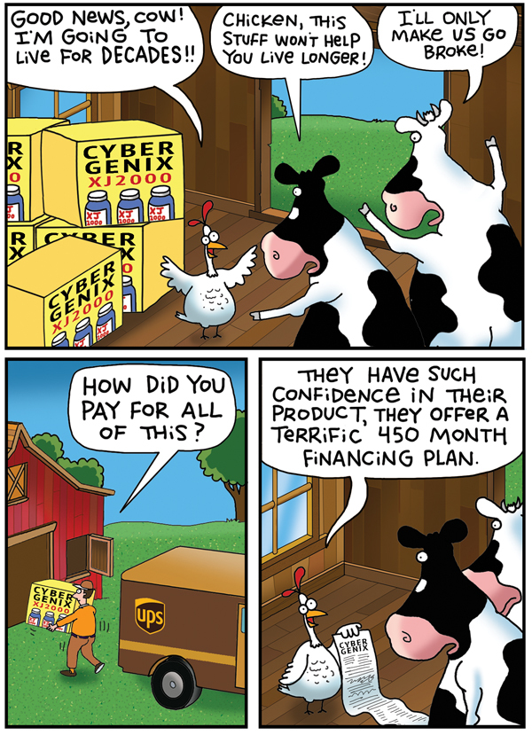 2 Cows and a Chicken Comic Strip for May 29, 2019