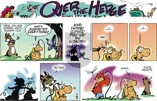 Over the Hedge on Sunday November 3, 2019 Comic Strip