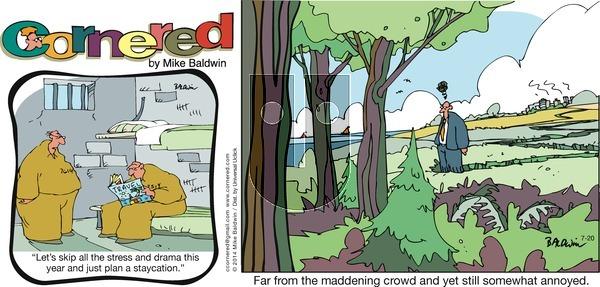 Cornered on Sunday July 20, 2014 Comic Strip