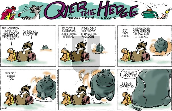 Over the Hedge on Sunday July 15, 2018 Comic Strip