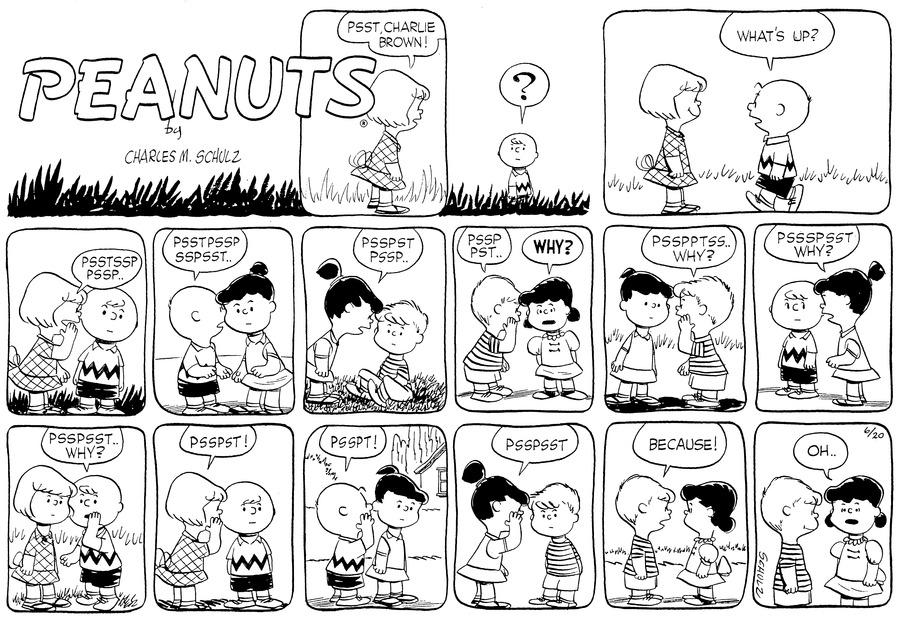 Peanuts for Jun 20, 1954 Comic Strip