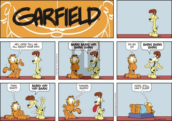 Garfield on Sunday May 24, 2020 Comic Strip