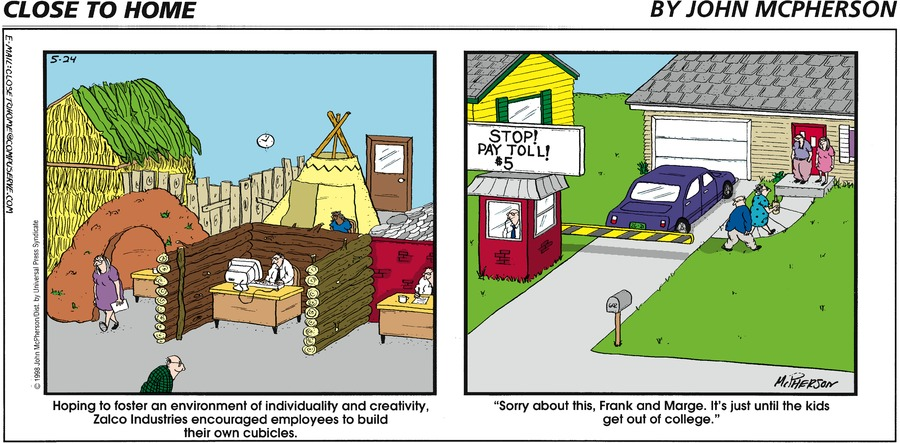 Close to Home for May 24, 1998 Comic Strip