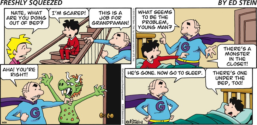 Freshly Squeezed for Sep 29, 2013 Comic Strip