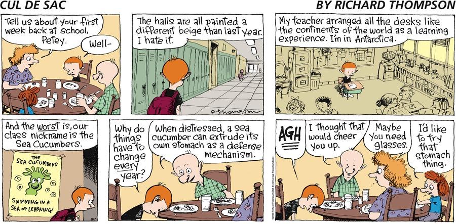 Cul de Sac for Sep 7, 2008 Comic Strip