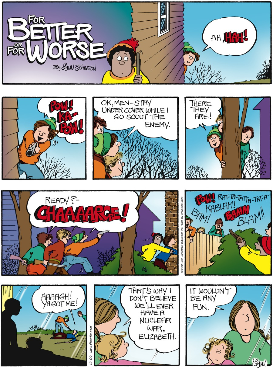 For Better or For Worse Comic Strip for December 09, 2012