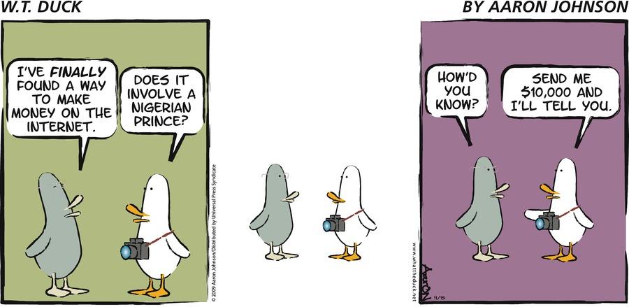 W.T. Duck Comic Strip for November 15, 2009