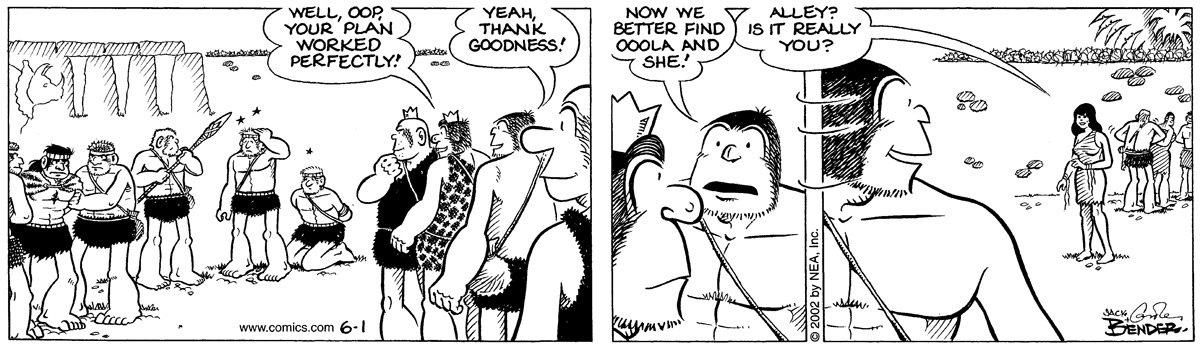 Alley Oop for Jun 1, 2002 Comic Strip