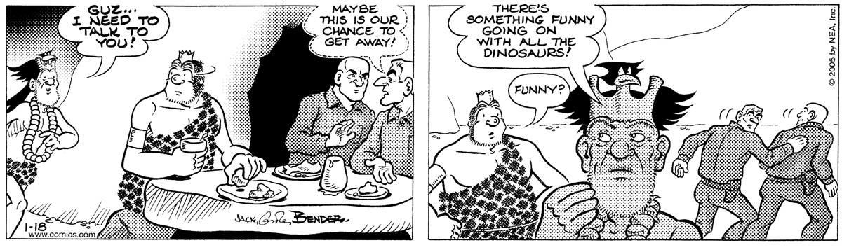 Alley Oop for Jan 18, 2005 Comic Strip