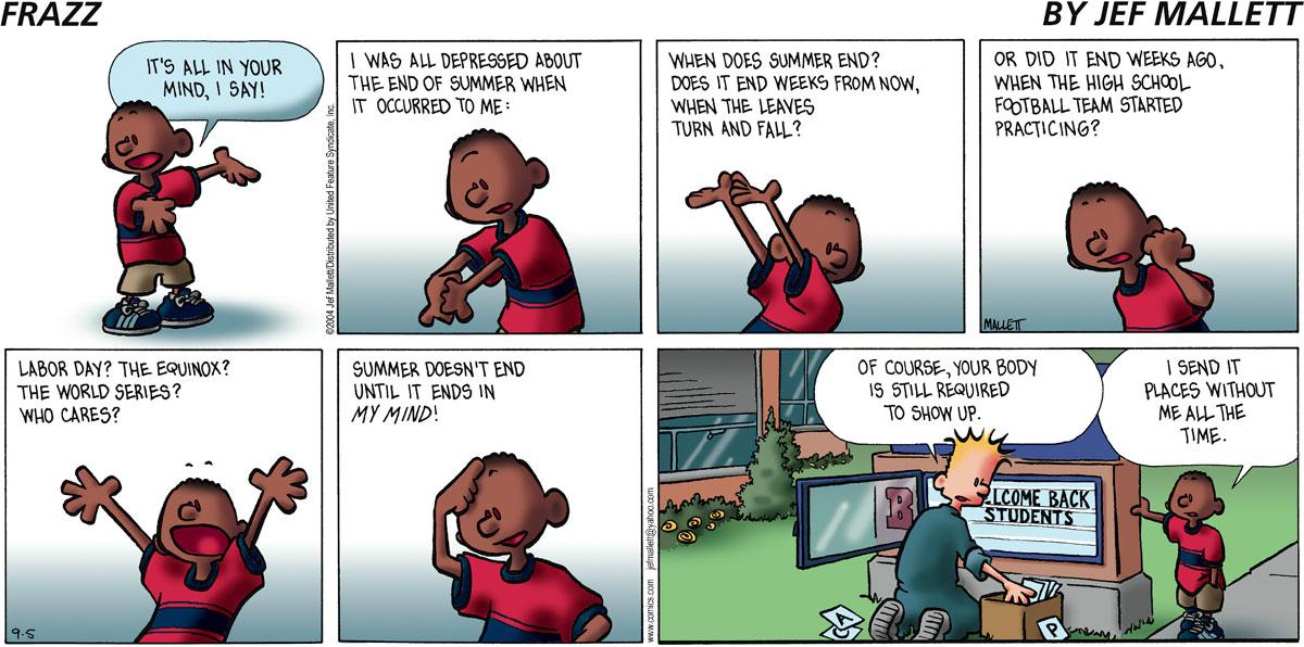 Frazz Comic Strip for September 05, 2004