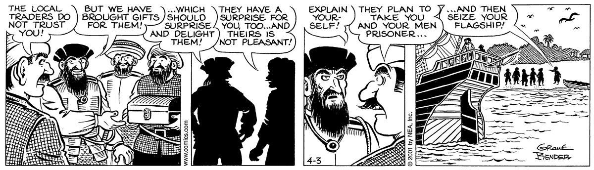 Alley Oop for Apr 3, 2001 Comic Strip