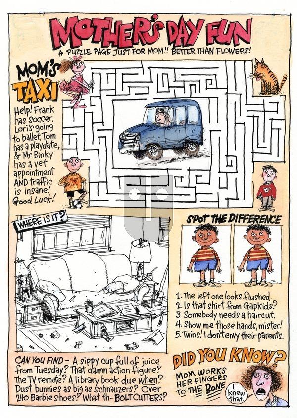Richard's Poor Almanac on Sunday May 10, 2015 Comic Strip