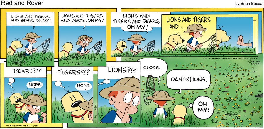 Red and Rover Comic Strip for August 11, 2019