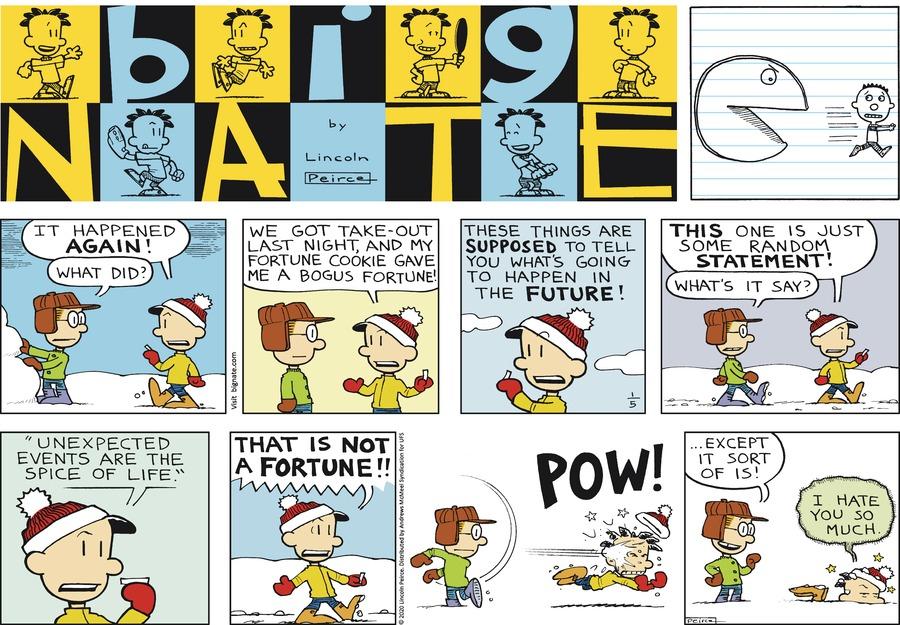 Big Nate by Lincoln Peirce on Sun, 05 Jan 2020