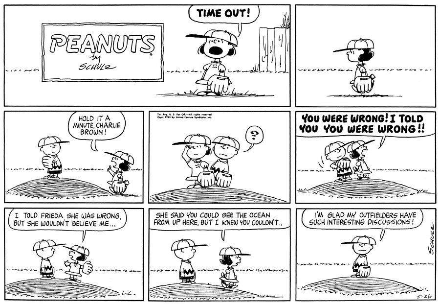 Peanuts Comic Strip for May 26, 1963
