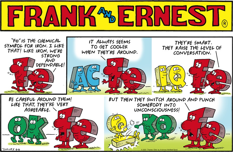 Frank and Ernest Comic Strip for June 06, 2021