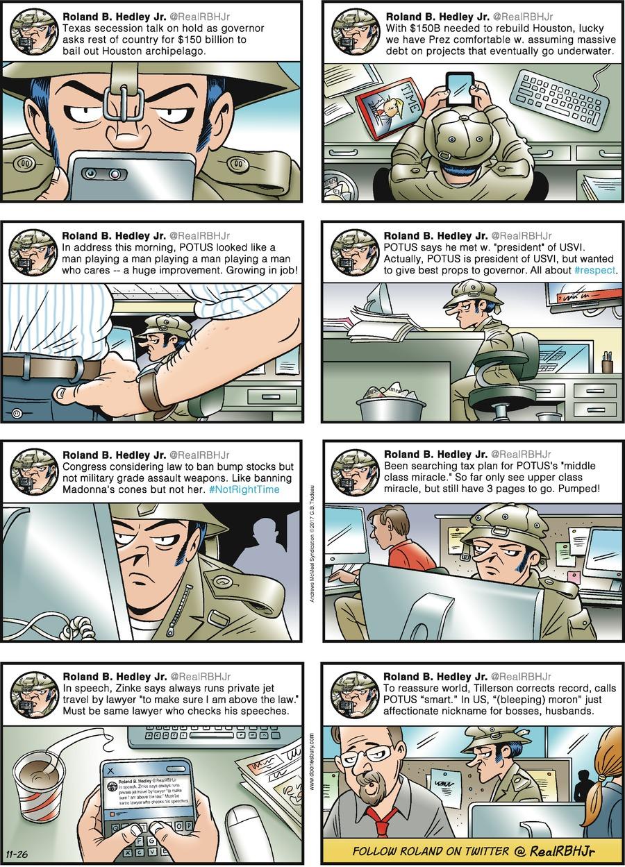 Doonesbury Comic Strip for November 26, 2017