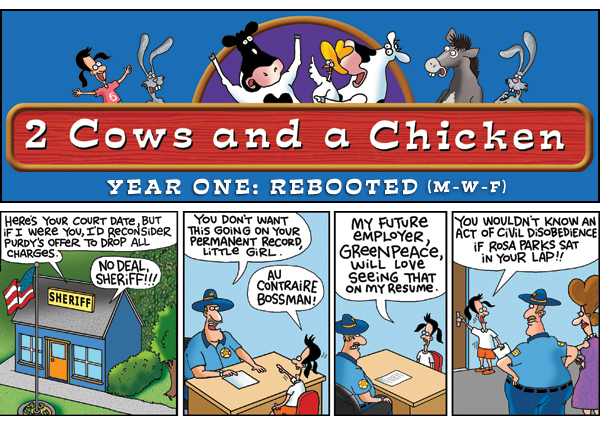 2 Cows and a Chicken for Mar 13, 2013 Comic Strip