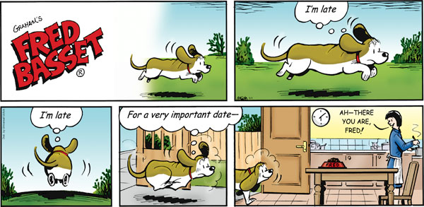 Fred Basset Comic Strip for May 01, 2011