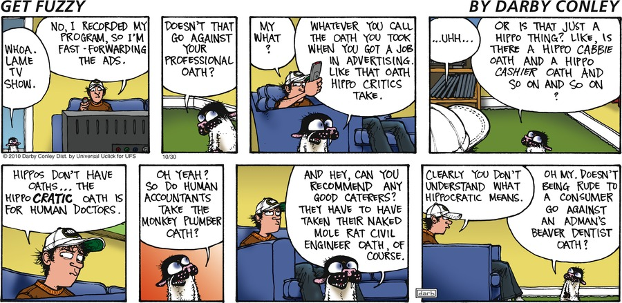 Get Fuzzy Comic Strip for October 30, 2016