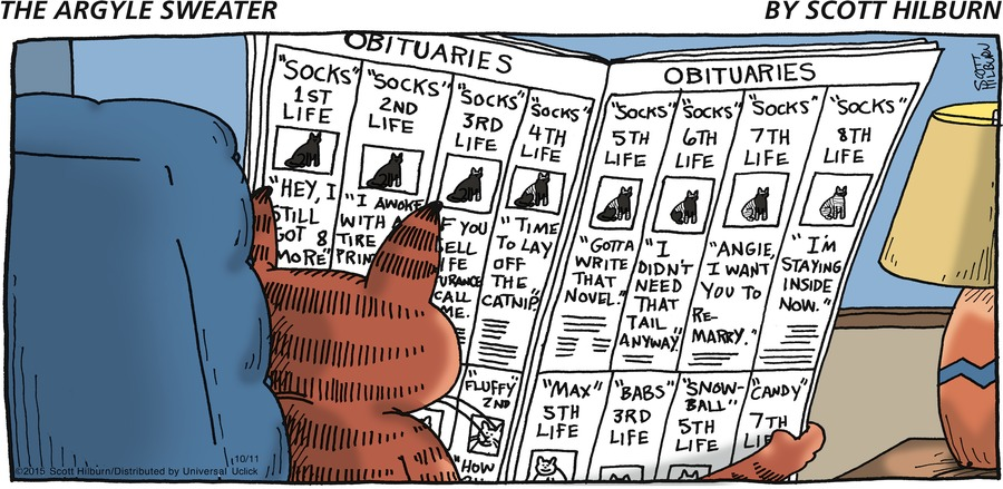 The Argyle Sweater Comic Strip for October 11, 2015