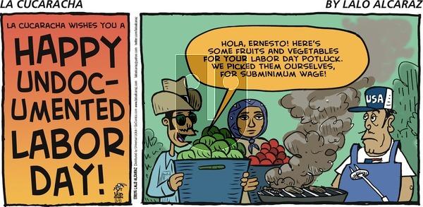 La Cucaracha on Sunday September 6, 2015 Comic Strip