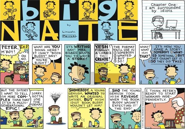 Big Nate - Sunday March 8, 2015 Comic Strip