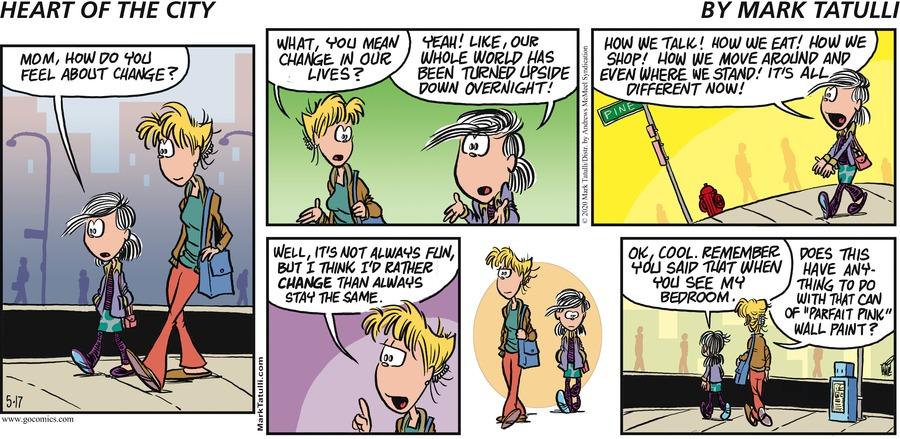 Heart of the City Comic Strip for May 17, 2020