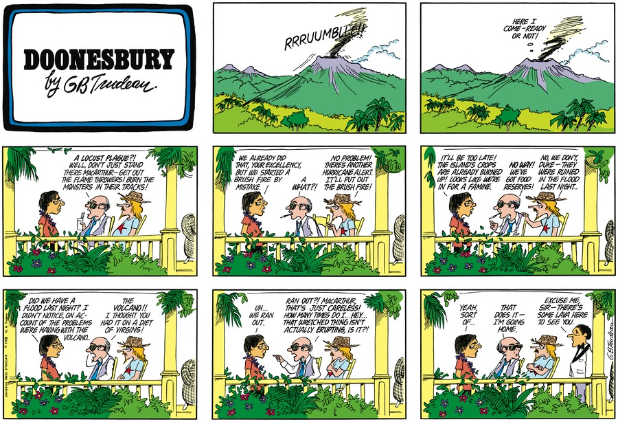 Doonesbury Comic Strip for February 02, 1975