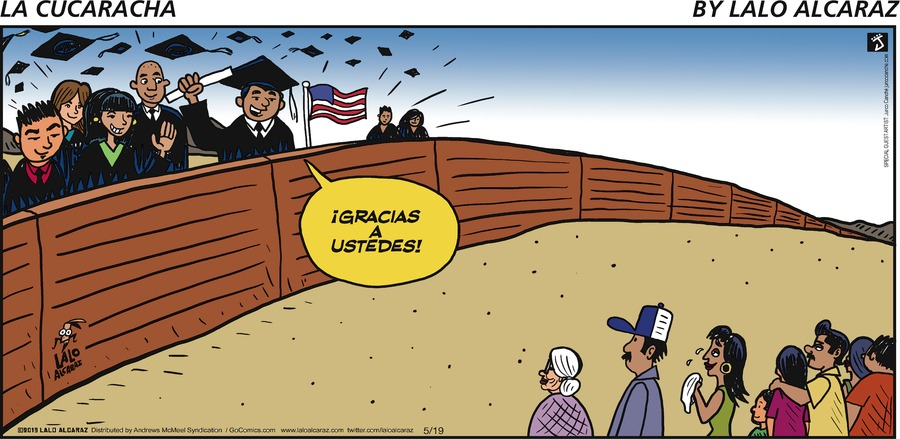 La Cucaracha by Lalo Alcaraz for May 19, 2019
