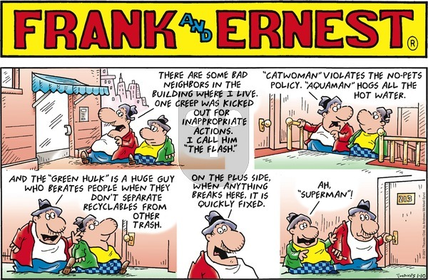 Frank and Ernest on Sunday January 10, 2021 Comic Strip