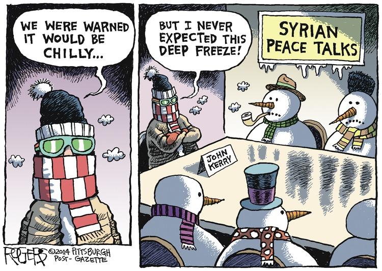 Rob Rogers for Jan 26, 2014 Comic Strip