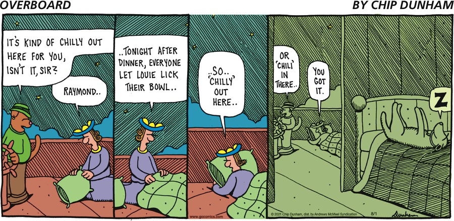 Overboard Comic Strip for August 01, 2021