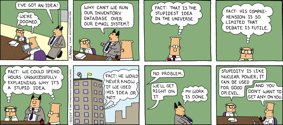 Dilbert Classics by Scott Adams for January 13, 2019