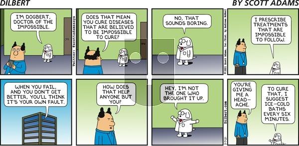 Dilbert on Sunday February 7, 2021 Comic Strip