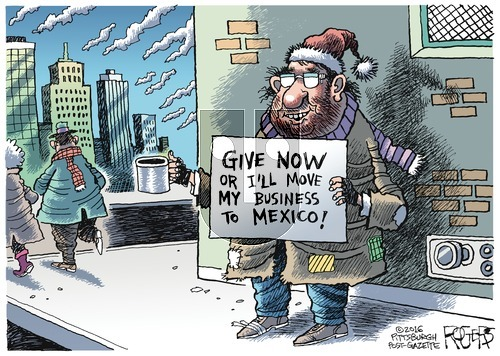 Rob Rogers on Sunday December 4, 2016 Comic Strip