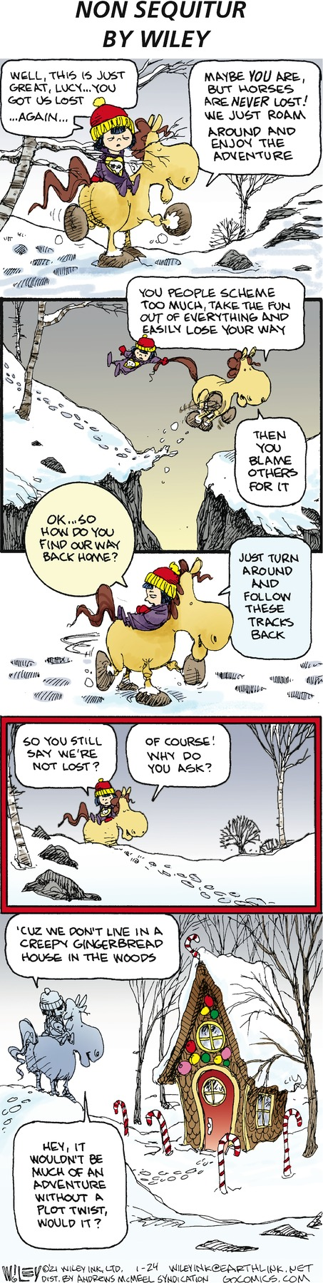 Non Sequitur Comic Strip for January 24, 2021