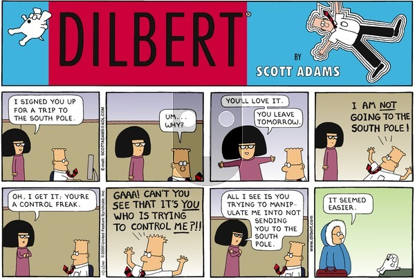 Dilbert on Sunday November 12, 2000 Comic Strip