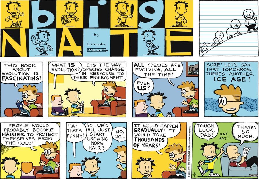 Big Nate Comic Strip for December 09, 2012