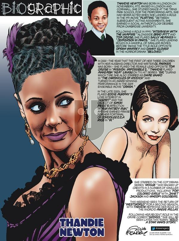 Biographic on Sunday April 22, 2018 Comic Strip