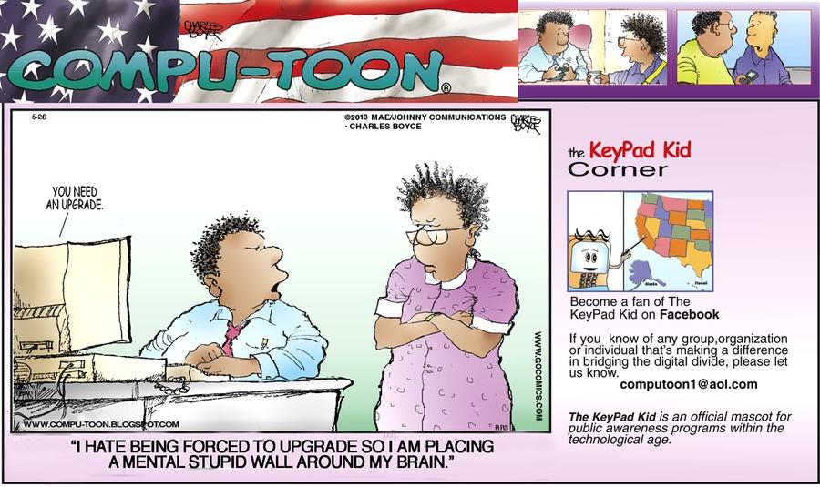 Compu-toon Comic Strip for May 26, 2013