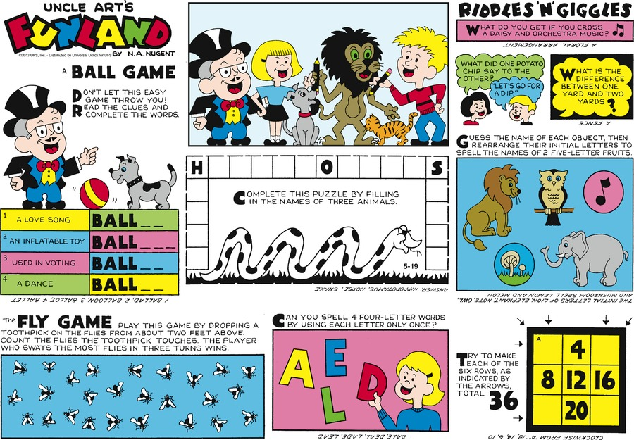 Uncle Art's Funland for May 19, 2013 Comic Strip