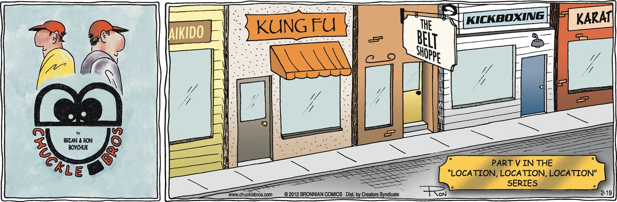 Chuckle Bros Comic Strip for February 19, 2012