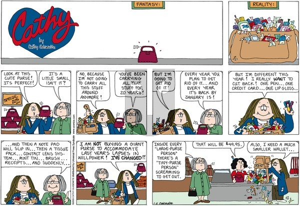 Cathy Classics on Sunday January 5, 2003 Comic Strip